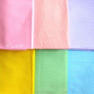 Cotton Fabric Singapore: Basic Polka Dots Cotton Fabric「 ii Design Workz 」