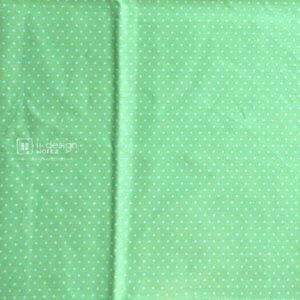Cotton Fabric Singapore: Basic - Polka Dots - Green - Cotton Fabric「 ii Design Workz 」