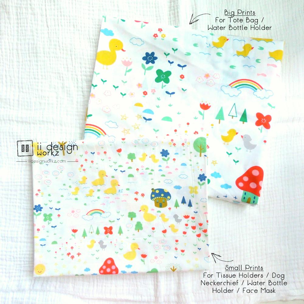 Cotton Fabric Singapore: Standard - Cute Ducks Farm Cotton Fabric「 ii Design Workz 」
