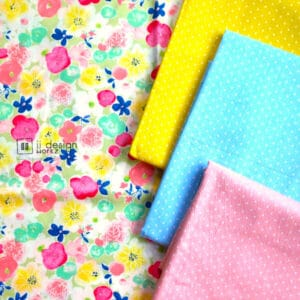 Cotton Fabric Singapore: Standard - Country Style Floral Flowers Taiwan Imported Cotton Fabric「 ii Design Workz 」