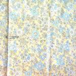 Cotton Fabric Singapore: Standard - Light Yellow Floral Cotton Fabric「 ii Design Workz 」