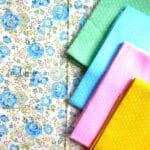 Cotton Fabric Singapore: Standard - Blue Rose Flower Cotton Fabric 「 ii Design Workz 」