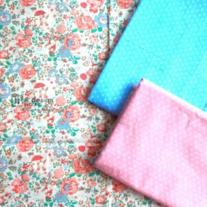 Cotton Fabric Singapore: Standard - Rose and Rabbit Bunny Cotton Fabric「 ii Design Workz 」