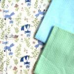 Cotton Fabric Singapore: Standard - Blue Fox Cotton Fabric「 ii Design Workz 」
