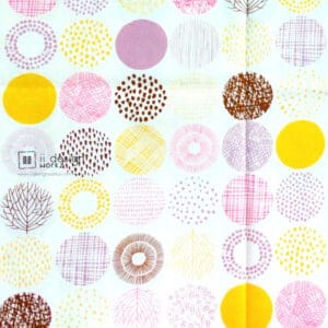 Cotton Fabric Singapore: Standard - Pink Nordic Annual Ring Taiwan Imported Cotton Fabric「 ii Design Workz 」