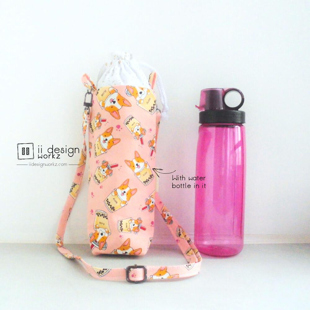 500ml Water Bottle Holder Singapore   Water Bottle Sling Bag   Handmade Water Bottle Carrier「 ii Design Workz 」