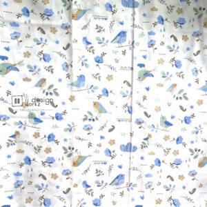 Cotton Fabric Singapore: Standard - Blue Bird Cotton Fabric「 ii Design Workz 」
