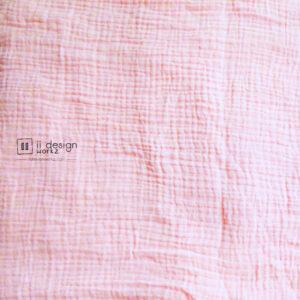 Cotton Fabric Singapore: Double Gauze Cotton Fabric - Baby Light Pink「 ii Design Workz 」