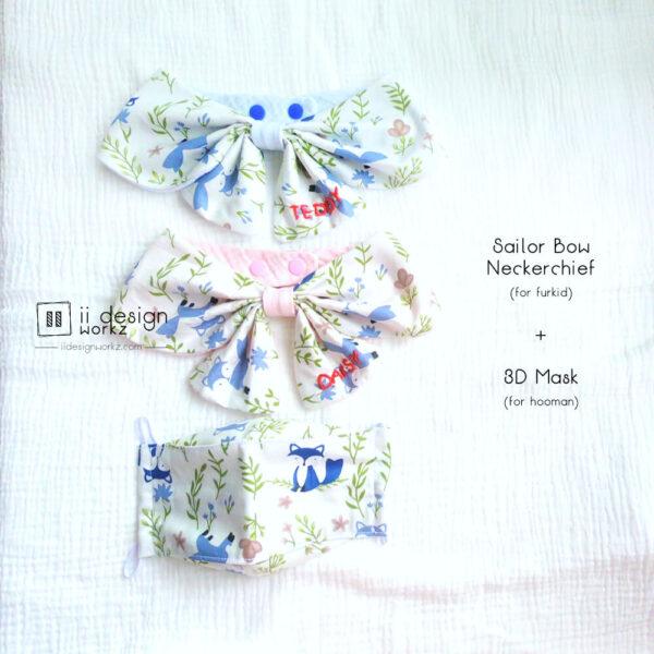 Dog Reversible Bandana Singapore | Reusable Washable Fabric Face Mask Singapore「 ii Design Workz 」