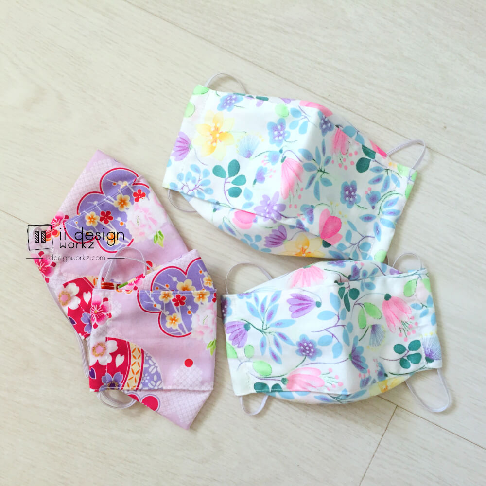 Fabric Face Mask Singapore | 3D Face Mask with Filter Slot | Reusable Washable Fabric Face Mask「 ii Design Workz 」