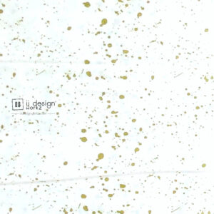 Cotton Fabric Singapore: Basic - Gold Sparkles on White Background Cotton Fabric「 ii Design Workz 」