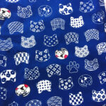Fabric-S-Tiny-Japanese-Fortune-Cats-Navy-001