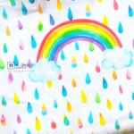 Cotton Fabric Singapore: Rainbow Rain in Daylight Cotton Fabric「 ii Design Workz 」