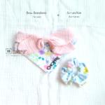 Dog Bandana Singapore | Dog Bow Bandana | Dog Bandana with Customized Hand-embroidery Name | Dog Accessories | Scrunchies Singapore「 ii Design Workz 」