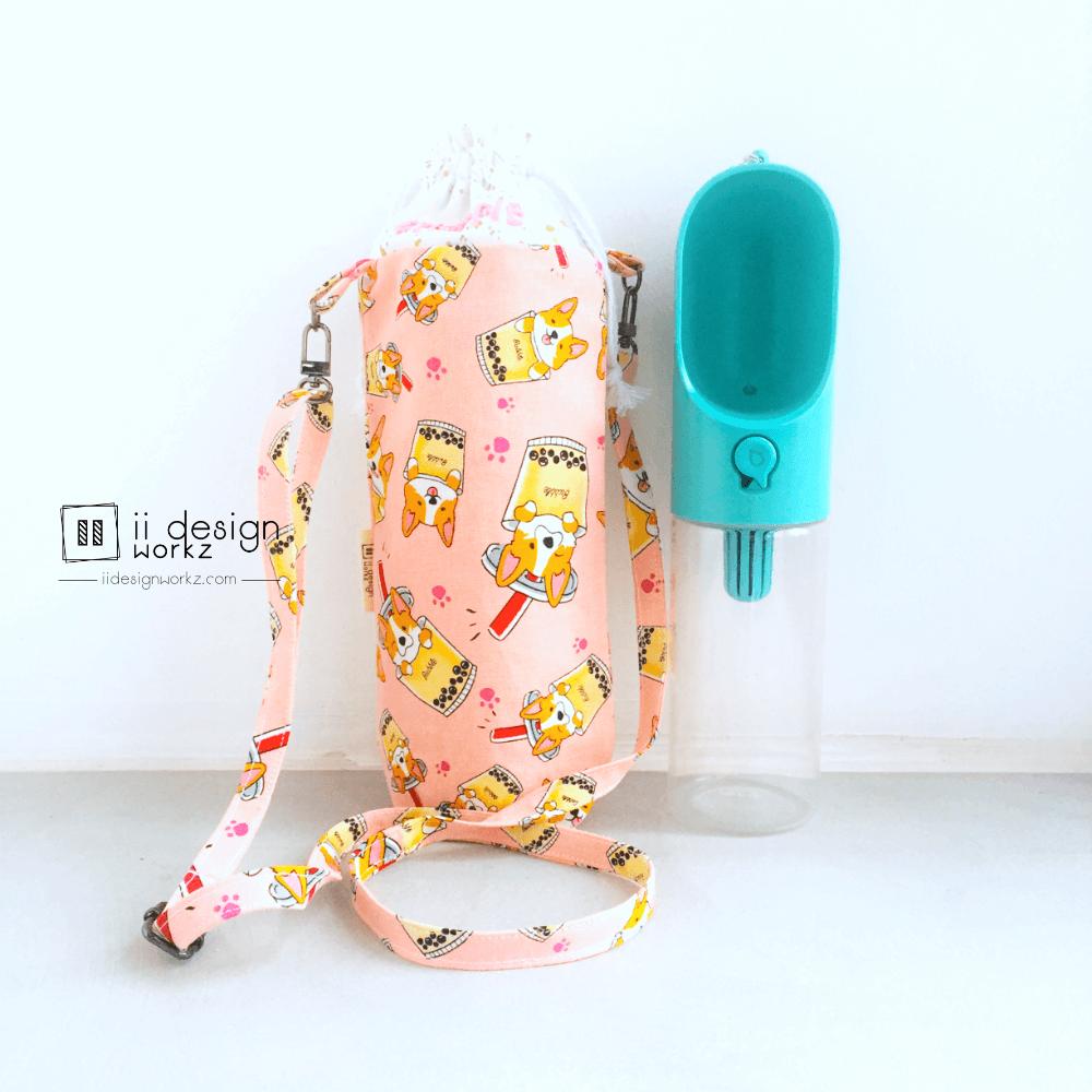 PETKIT Water Bottle Holder Singapore | Water Bottle Sling Bag | Handmade Water Bottle Carrier「 ii Design Workz 」