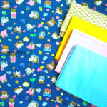 Cotton Fabric Singapore: Dog's Lovely Diary on Navy Background Cotton Fabric 「 ii Design Workz 」