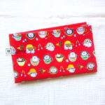 Cotton Fabric Singapore: Have A Cup of Little Bear on Red Background Cotton Fabric 「 ii Design Workz 」