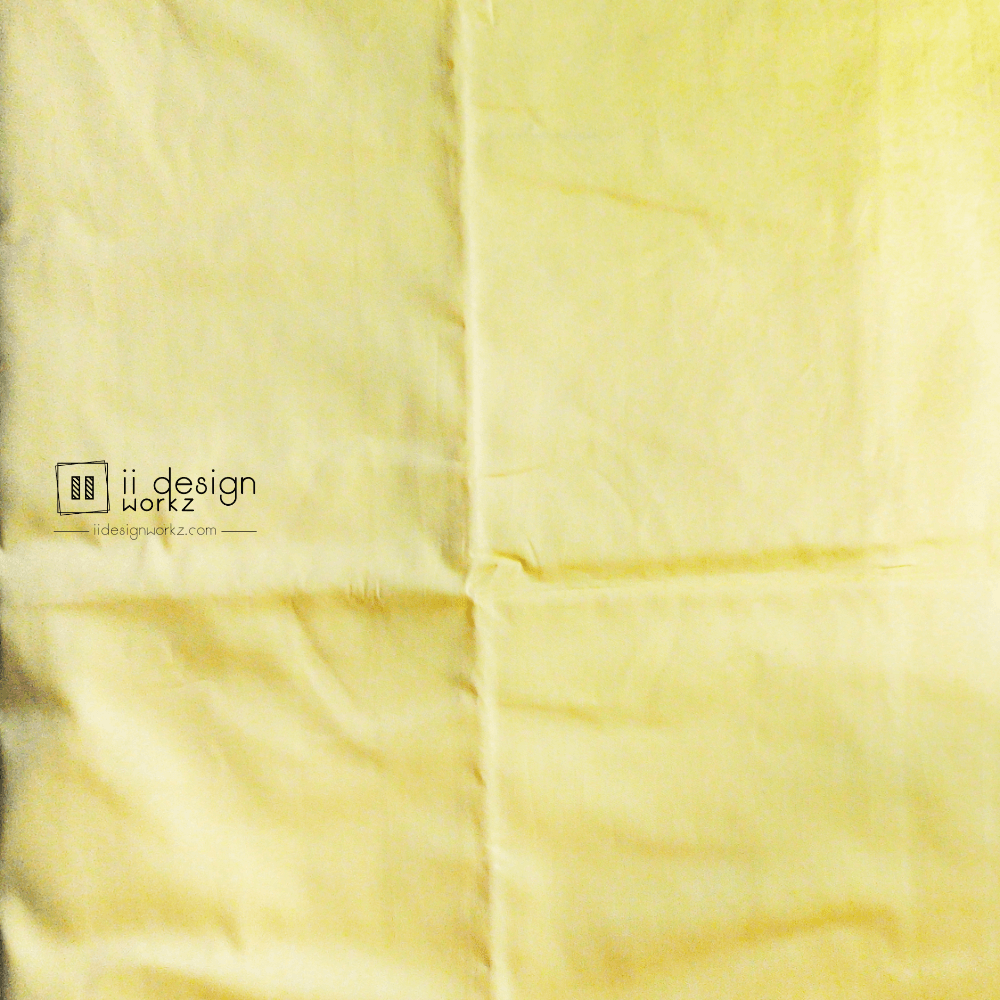 Fabric Singapore: Royal Yellow Solid Color Cotton Fabric 「 ii Design Workz 」