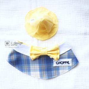 Dog Bandana Singapore | Dog School Uniform Bandana | Dog Hat | Dog Cap | Dog Accessories「 ii Design Workz 」